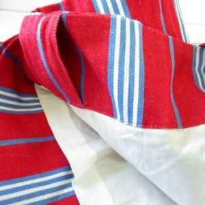 Pottery Barn Kids Other - POTTERY BARN KIDS Red and Blue Stripe Lined Drapes